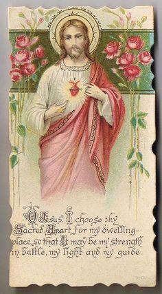 Vintage Holy Prayer Card