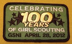 Girl Scouts Northern Illinois Celebrating 100 Years of Girl Scouting 100th Anniversary patch. An ebay find.