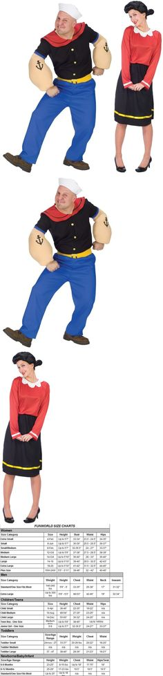 Halloween Costumes: Couples Popeye And Olive Oyl Adult Costume Funny Pair Duo Theme Party Halloween -> BUY IT NOW ONLY: $65.95 on eBay!