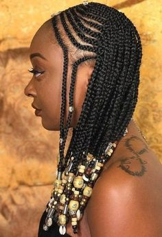 Top 32 Braided Hairstyles for Black Women That are Trending in 2019 Braids With Curls, Braids For Short Hair, Black Braids, Box Braids, Long Hair Braided Hairstyles, Braided Hairstyles For Black Women, Braid Styles, Short Hair Styles, Waterfall Braid Tutorial