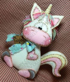 E-Pattern Magical Mischief Unicorn Pattern 306 Primitive Christmas Elf Doll, Christmas Wood, Christmas Crafts, Sewing Projects, Sewing Crafts, Keepsake Quilting, Unicorn Pattern, Tips & Tricks, Felt Ornaments