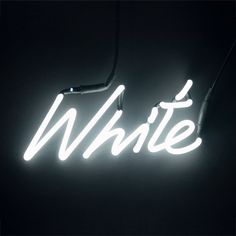 Neon Colour Word Lamp - White