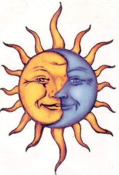 Tattoo moon and sun la luna art prints 28 Super ideas Sun Tattoos, 1 Tattoo, Tattoo Moon, Tatoos, Roots Tattoo, Sun Moon Stars, Sun And Stars, Moon Garden, Sun Art