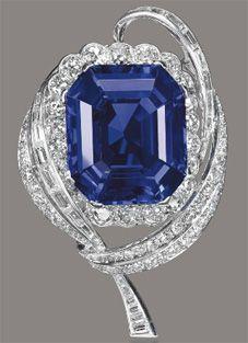 Sapphire Brooch ~ Mellerio
