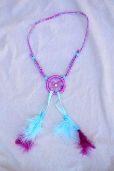 Blue & Purple Dreamcatcher Headband #A1003