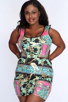 Plus Size Clubwear, Plus Size Mini Dresses, Elegant Dresses For Women, Plus Size Fashion For Women, Curvy Outfits, Amazing Women, Metallic, One Piece, Printed