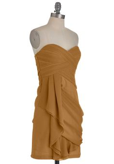 Wave to the Crowd Dress in Sepia, #ModCloth
