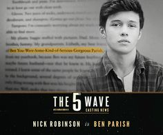 Nick Robinson and Alex Roe join Chloe Grace Moretz in 'The 5th Wave'