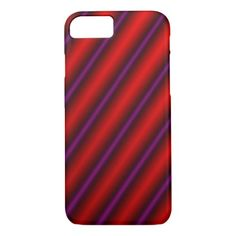 #stripes - #Red Purple and Black Laser-Like Line Pattern iPhone 7 Case