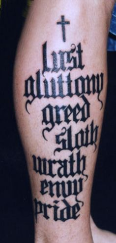 1000 images about the seven deadly sins on pinterest for Seven sins tattoo