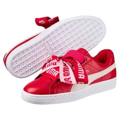 Zapatillas de mujer Basket Heart DE, Toreador-Puma White