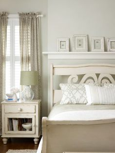 Beautiful bedrooms in soothing neutrals.  I would love this as our bedroom!