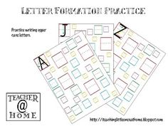 Teaching Little Ones At Home: Printable | Letter Formation Practice | Upper Case