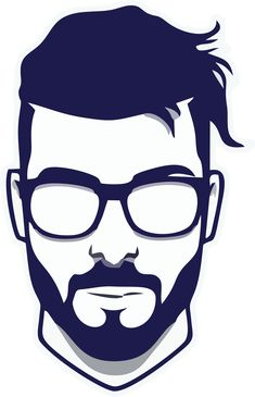 Man With Glasses Art Sketches, Art Drawings, Whatsapp Logo, Beard Logo, Barber Logo, Beard Art, Barbershop Design, Manicure Y Pedicure, Vector Portrait