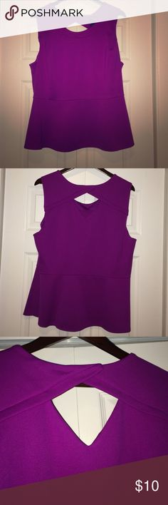 Berry Peplum Structured Tank - 2X NWT. Fitted. Would pop with a statement necklace! Worthington Tops