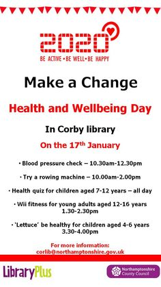 Health & Wellbeing Corby Library 17 Jan