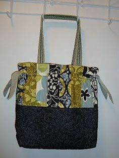 """Tote Bag with Tutorial: 15''x15.5"""" Also includes a zippered pocket inside for security."""