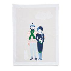 Rasmus & Mia Tea Towel by Citta Design | Citta Design Australia