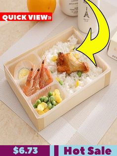 2037af2b7 Dongchi Bento Fast Food Box Disposable High-grade Wooden Fast Food Box  Desktop Bento Box Environmentally-friendly Takeout Lunch Box