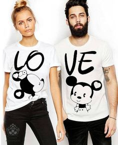 Couple T-shirts set LOVE couple T-shirts custom couple shirts Love you tshirt. - Love Shirts - Ideas of Love Shirts - - El amor pareja camisetas conjunto de conjunto de Cute Couple Shirts, Couple Tees, T-shirt Paar, T-shirt Couple, Disney Couples, T Shirt Designs, Love Shirt, Couple Outfits, Matching Couples