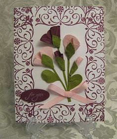 Stampin' Up!  Butterfly Punch  Lynn Pratt  Sweet Peas