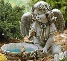 Garden Angel Birdbath!  So Sweet!