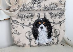 Cavalier King Charles Spaniel Bag Embroidered by daydogdesigns, $40.00