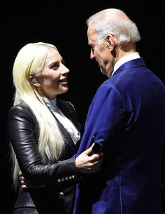 Lady Gaga & Joe Biden from The Big Picture: Today's Hot Pics | E! Online