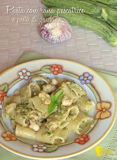 verticale_pasta con rana pescatrice e pesto di zucchine ricetta facile e cremosa il chicco di mais