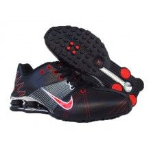 Nike Shox R4 Flywire Mens Running Black Red Sliver