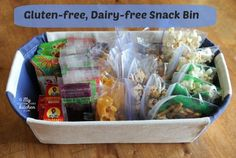 Frugal Gluten-free and Dairy-free Snack Bin Ideas Great for Back to school! #glutenfree Dairy Free Snacks, Dairy Free Recipes, Vegan Recipes, Sans Lactose, Lactose Free, Boite A Lunch, Frugal, Keto, Foods With Gluten