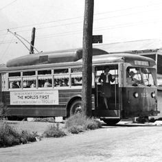 "The world's first air conditioned trolley, known locally as the ""Queen Mary,"" went into service in Atlanta in 1945."