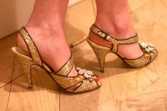 Tarajia Morrell's Mui Mui sparkly heels. I love Tarajia... She taught me about vintage.