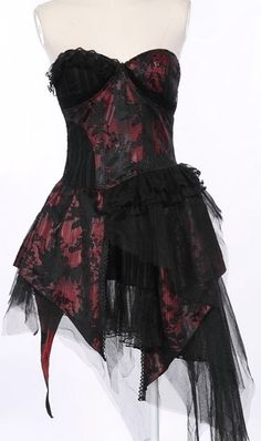 RQ-BL Dark Belle (Black/Burgandy) Dress - Buy Online Australia Beserk