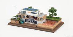 Technical Illustration, 3D Cutaway of a modern Green House