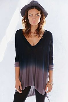 Pins And Needles Dip-Dye Tunic Top - Urban Outfitters