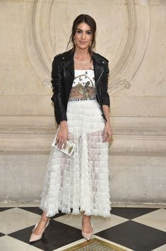 Camila Coelho attends the Christian Dior show as part of the Paris Fashion Week Womenswear Fall/Winter 2017/2018 at Musee Rodin on March 3, 2017 in Paris, France.