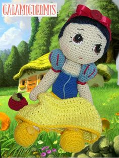 Amigurumi Snow White - FREE Crochet Pattern / Tutorial