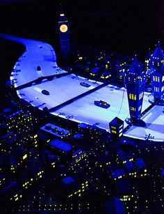 Flying Over London Scene at Peter Pan's Flight in the Magic Kingdom, Walt Disney World, FL