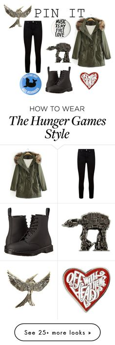 """Pin It"" by pivotalvoices on Polyvore featuring Dr. Martens, Paige Denim and pins"