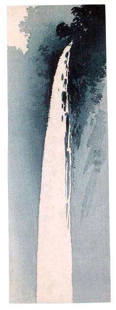 Wasserfall - Uehara Konen - ca. 1923 - Holzschnitt