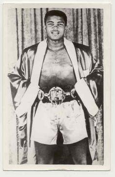 Ali with Championship belt