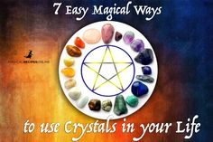 7 Easy and Magical way to Use Crystals in a daily base. How to absorb negativity, cleanse place, bring blessings enhance your psychic abilities and Wicca Crystals, Chakra Crystals, Crystals And Gemstones, Stones And Crystals, Gem Stones, Crystal Uses, Crystal Magic, Crystal Healing, Crystal Logo