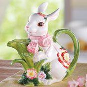 Spring Bunny Ceramic Kitchen Teapot