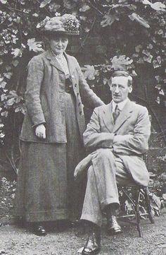 Beatrix Potter and her husband, William Heelis, 1913