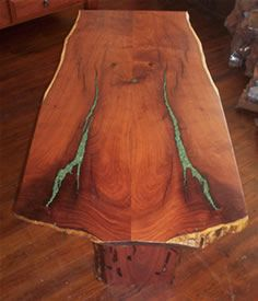 Turquoise inlay table