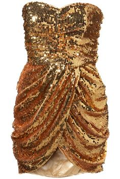 Sequin Drape Front Dress...this would totally match my gold pumps I want to wear to my golden birthday!!!!!!!!