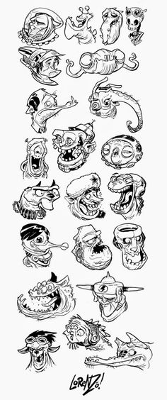 YES! It's Science Fiction Character Head Design Week  all this week here on the Etherington Brothers blog! Here's your first set of weirdos....