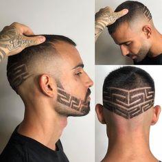✖ Giuseppe Pala (@giuseppe_shovel) • Instagram photos and videos Hair Art, Men's Hair, High And Tight, Mens Hair Trends, High Fade, Bald Fade, Bowl Cut, Faux Hawk, Comb Over