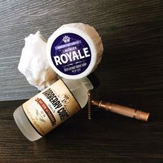 Lavender Royale Rich Lather Shave Soap * Barberry Coast Bay Rum No. 28 Aftershave * 1932 Gillette New Double Edge Safety Razor * Silver tip badger hair shave brush